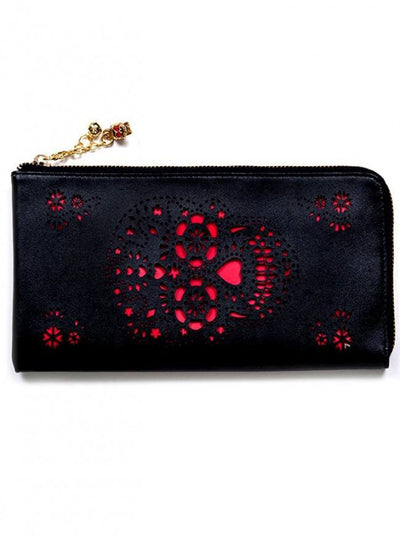 "Women's ""Cut Skull"" Wallet by Banned Apparel (Black) - www.inkedshop.com"