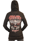 "Women's ""Lace Rider"" Zip Up Hoodie by Lethal Angel (Black) - www.inkedshop.com"