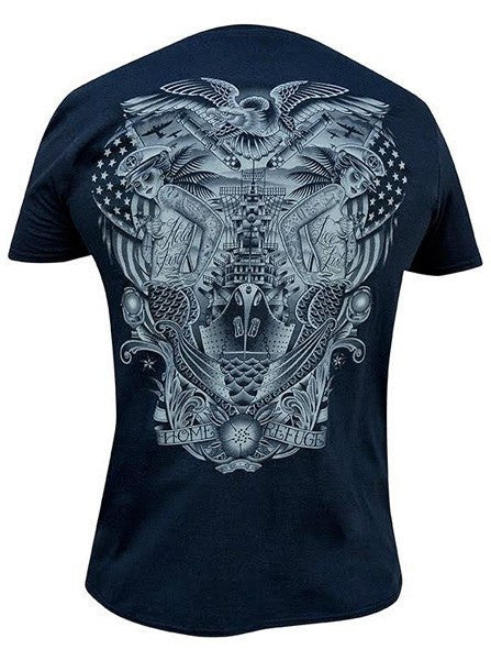 "Men's ""Black Refuge"" Tee by Black Market Art (Black) - www.inkedshop.com"