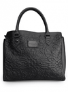 "Women's ""Lattice Skull"" Tote Bag by Loungefly (Black) - www.inkedshop.com"