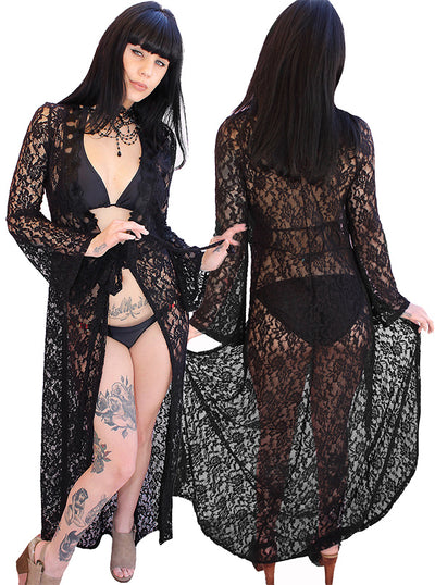 Women's Midnight Lover Kimono Duster by Demi Loon