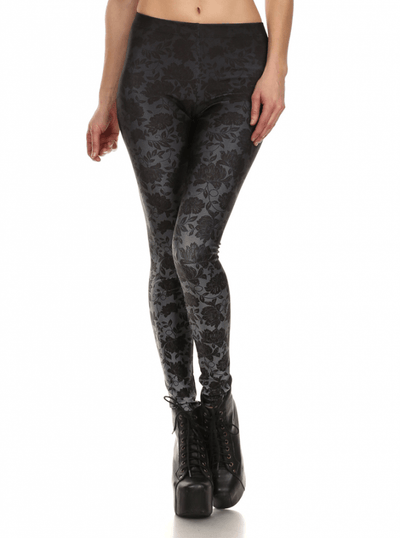 "Women's ""Black Ombre Lace"" Leggings by Poprageous (Black) - www.inkedshop.com"