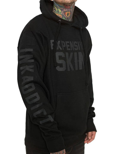 "Men's ""Expensive Skin"" Hoodie by InkAddict (Black Collection) - www.inkedshop.com"