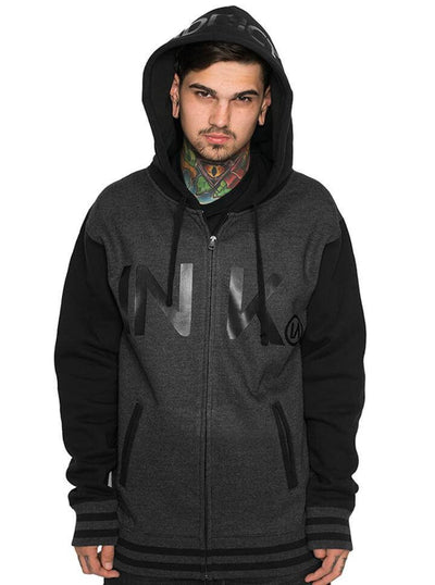 "Unisex ""Varsity"" Zip-Up Hoodie by InkAddict (Black Collection) - www.inkedshop.com"