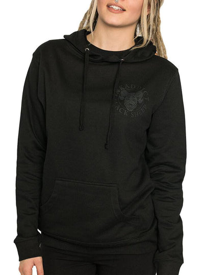 "Women's ""Black Sheep"" Hoodie by InkAddict (Black Collection) - www.inkedshop.com"