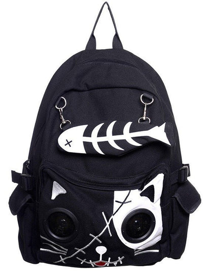 """Kitty"" Speaker Backpack by Banned Apparel (Multiple Options) - www.inkedshop.com"