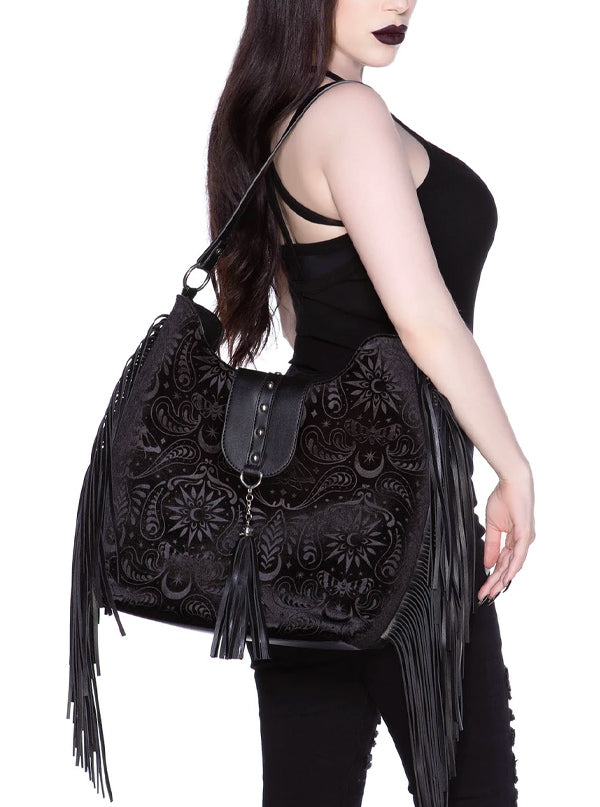Blackwood Velvet Handbag by Killstar