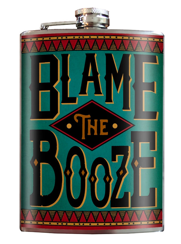 Blame the Booze Flask by Trixie & Milo