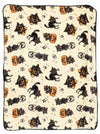 """Black Cat"" Blanket by Sourpuss (Cream)"
