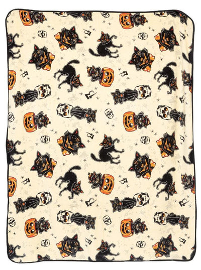 Black Cat Blanket by Sourpuss
