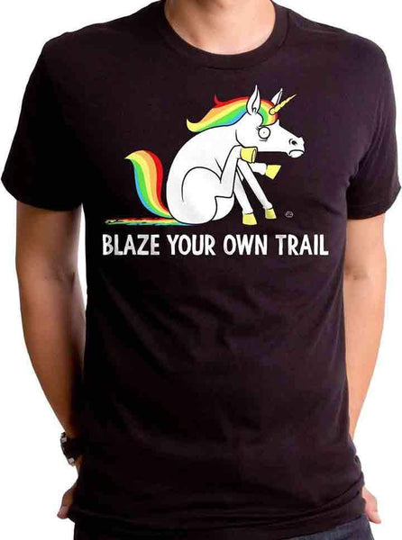 Men S Blaze Your Own Trail Tee By Goodie Two Sleeves Black Inked Shop
