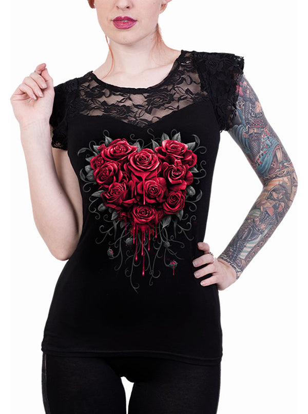 Women's Bleeding Heart Top by Spiral USA