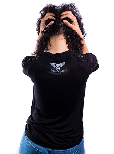 Women's Blingy Bike Tee by Lethal Angel