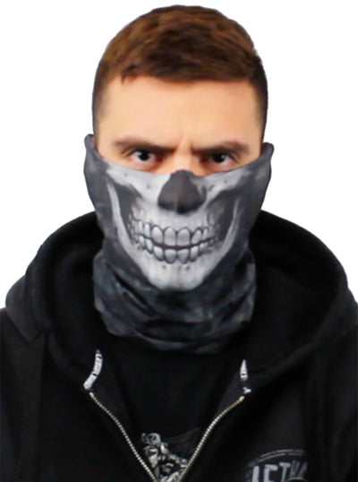 Black Skull Face Mask by Lethal Threat