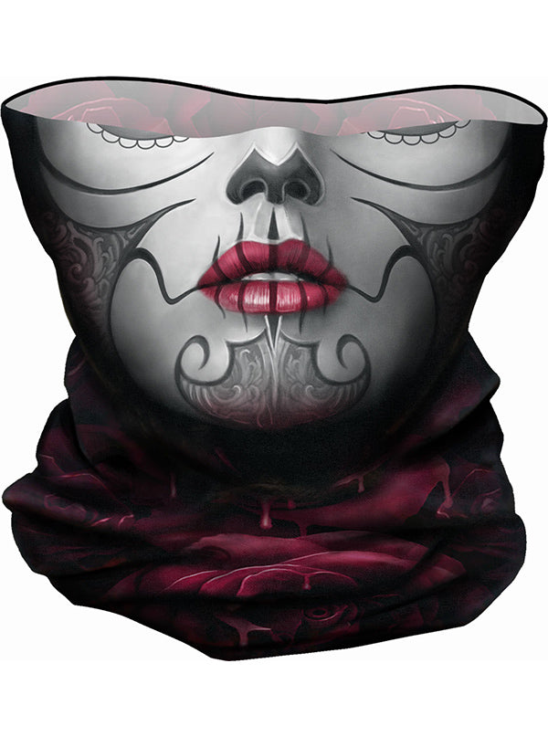 Blood Rose Multifunctional Face Wrap by Spiral Usa