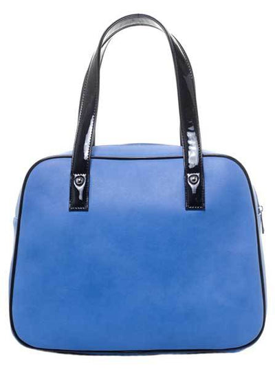 "Women's ""Haunted House"" Bowler Purse by Sourpuss (Blue)"