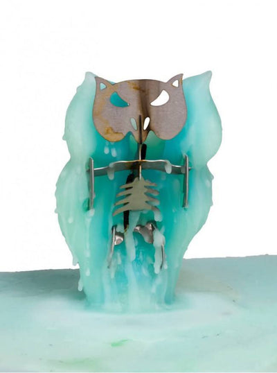 """Angry Owl"" Candle by Skeleton Candles (Multiple Options) - www.inkedshop.com"