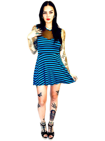 "Women's ""Striped"" Sweet Heart Dress by Switchblade Stiletto (More Options)"