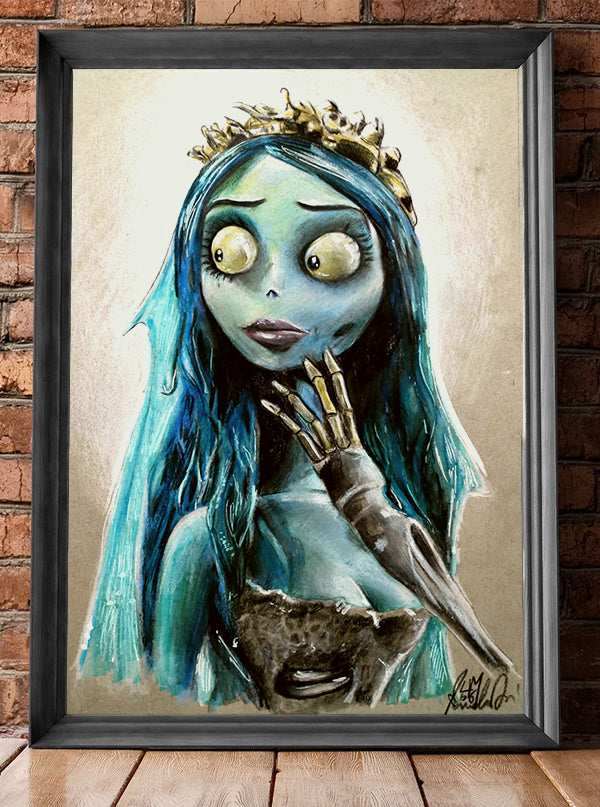 Blue Bride Print by Manuela Lai for Lowbrow Art Company