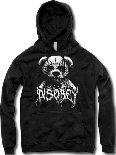 "Unisex ""Black Metal Teddy"" Hoodie by The T-Shirt Whore (Black) - www.inkedshop.com"