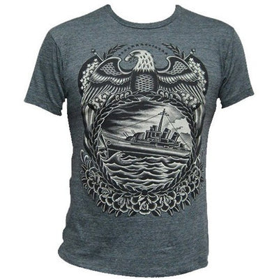 "Men's ""Battleship"" Tee by Black Market Art (Charcoal) - InkedShop - 2"