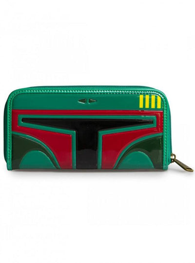 """Star Wars Boba Fett"" Wallet by Loungefly (Green/Red) - www.inkedshop.com"