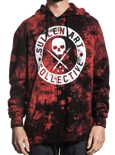 Men's Badge of Honor Grunge Hoodie by Sullen (Blood Stain)