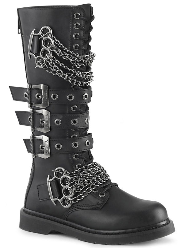 "Unisex ""Bolt 450"" Knee High Combat Boot by Demonia (Black)"