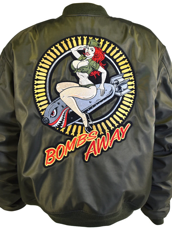 Men's Bombs Away Bomber Jacket by Lethal Threat