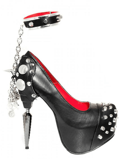 """Bond"" High Heels by Hades (Black) - www.inkedshop.com"