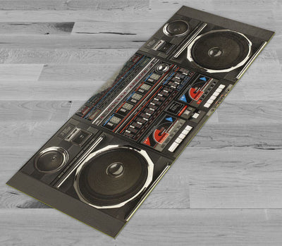 """Old School Boombox"" Yoga/Pilates Mat by Pimp My Yoga Mat"
