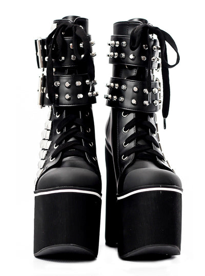 "Women's ""Streetmood"" Sneaker Boots by Charla Tedrick (Black)"