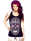 "Women's ""Beauty or Death"" Tank by Skygraphx (Black) - www.inkedshop.com"
