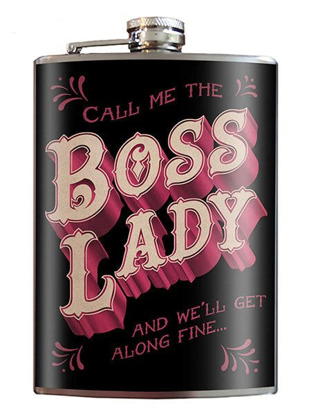 """Boss Lady"" Flask by Trixie & Milo - www.inkedshop.com"