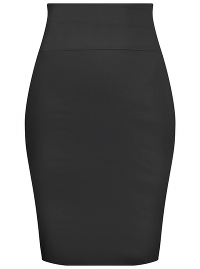 "Women's ""Bow Back"" Pencil Skirt by Double Trouble Apparel (Black) - www.inkedshop.com"