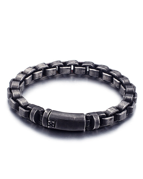 "Men's ""Box Chain"" Bracelet (Stainless Steel)"