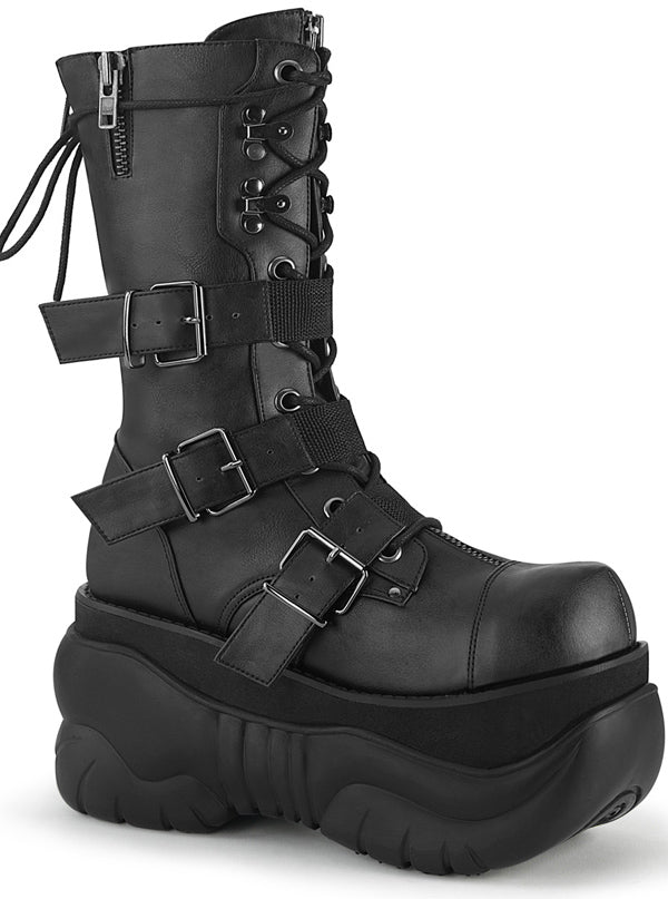 "Unisex ""Boxer 230"" Platform Boot by Demonia (Black)"