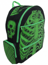 """Ribcage"" Backpack by Kreepsville 666 (Green) - www.inkedshop.com"