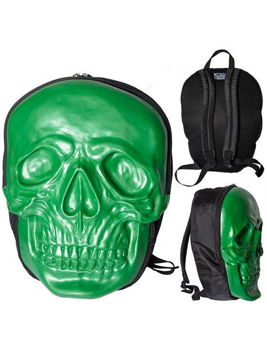 Women's Skull Backpack by Kreepsville 666 (Green) - www.inkedshop.com