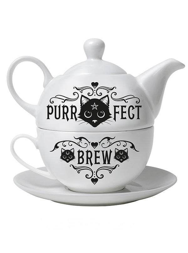 Purrfect Brew Tea Set by Alchemy of England