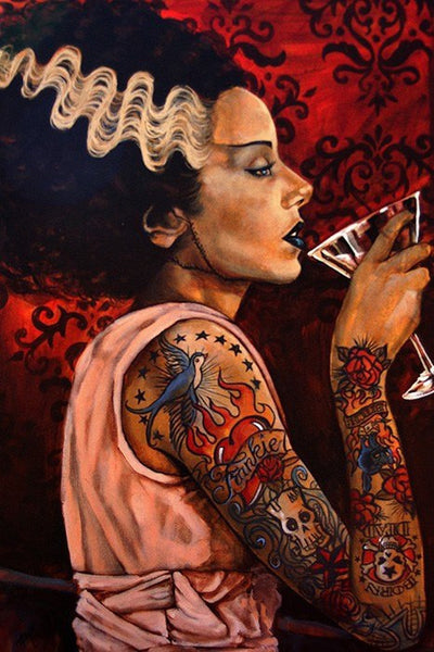"""Bride Cocktail"" Art Print by Mike Bell for Lowbrow Art - InkedShop - 1"