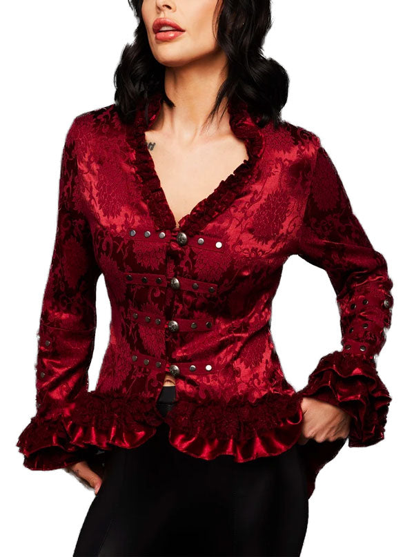 Women's Brocade Steampunk Jacket by Pretty Attitude Clothing