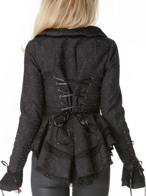 "Women's ""Brocade"" Jacket by Jawbreaker (Black)"