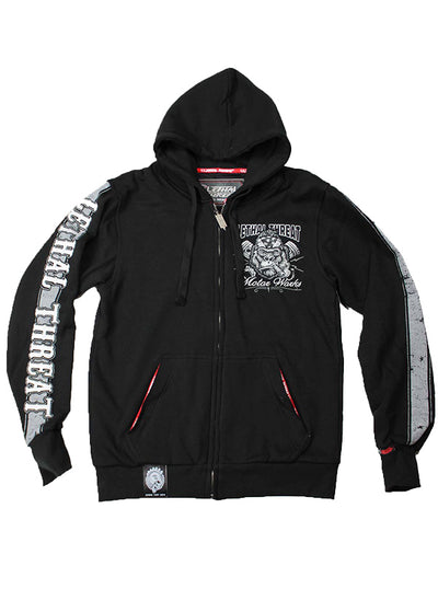 "Men's ""LT Brutal Force Gorilla"" Zip-Up Hoodie by Lethal Threat (Black)"