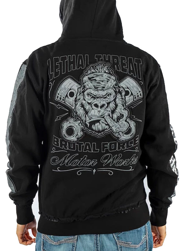 Men's LT Brutal Force Gorilla Zip-Up Hoodie by Lethal Threat