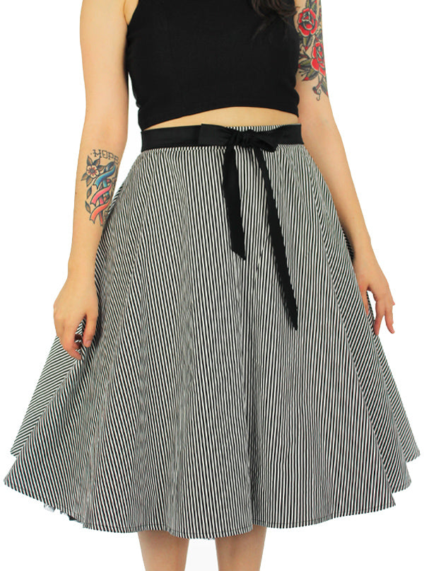 Women's Pinup Striped Skirt by Hemet