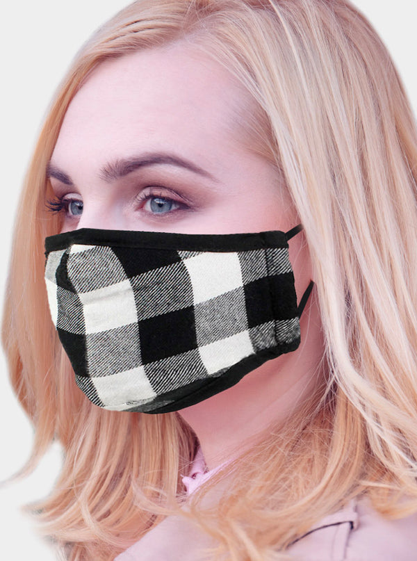 Buffalo Check 2 Layer Face Mask