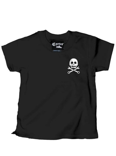 "Kid's ""Built To Last"" Tee by Cartel Ink (Black) - www.inkedshop.com"