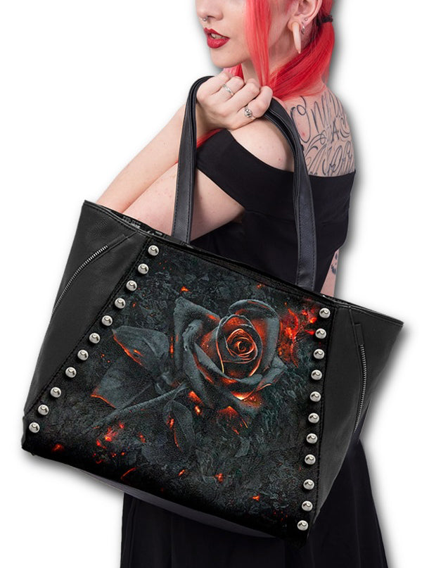 Burnt Rose Tote Bag by Spiral USA