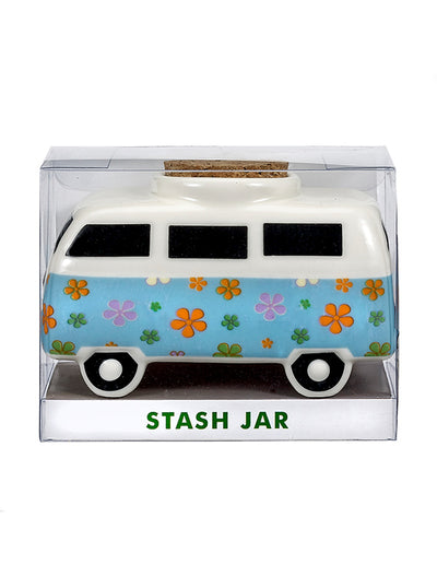 Retro Vintage Bus Stash Jar